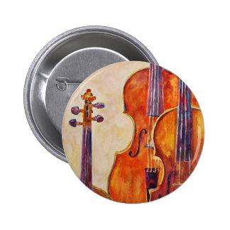 Watercolor Violins Button