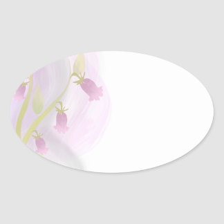 Watercolor Wash Pale Pink Oval Sticker