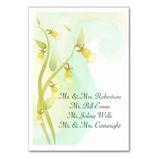 Watercolor Wash - Yellow Bells Table Cards