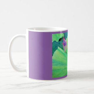 Watercolor water lily coffee mug