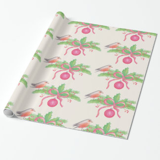 Watercolor Watercolor Christmas Bouquet Wrapping Paper