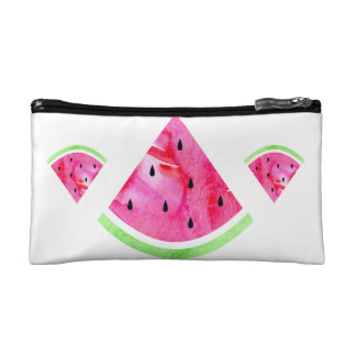 Watercolor Watermelon Makeup Bag