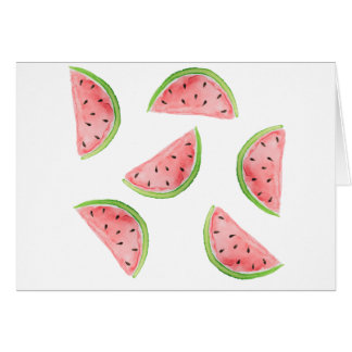 watercolor watermelon slices card