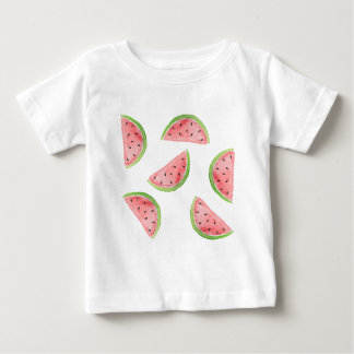 watercolor watermelon slices tee shirts