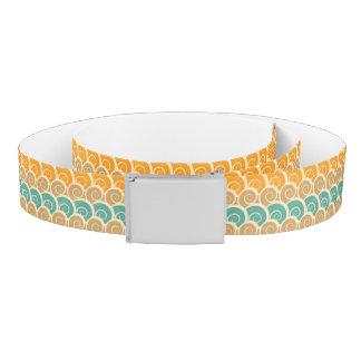 Watercolor Waves Pattern Belt