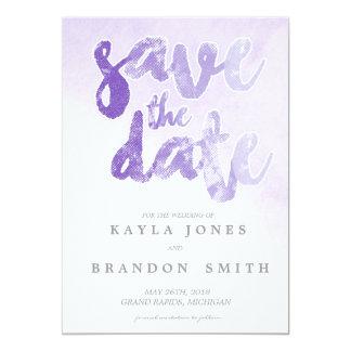 Watercolor   Wedding   Purple   WEDDINGS 13 Cm X 18 Cm Invitation Card