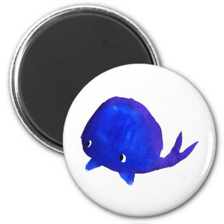 Watercolor Whale Refrigerator Magnets
