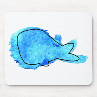 Watercolor Whale Mouse Mat