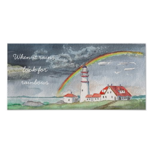 Watercolor   When it rains, look for rainbows Poster