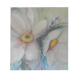 Watercolor White Flower Notepad