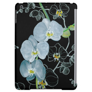 Watercolor White Orchids Pattern