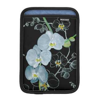 Watercolor White Orchids Pattern iPad Mini Sleeve