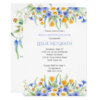 Watercolor Wildflowers Bridal Shower Invitation