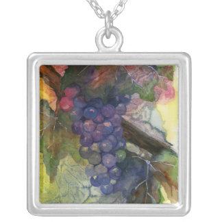 Watercolor Wine Grape Necklace