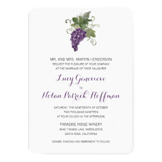Watercolor Wine Vineyard | Wedding Card