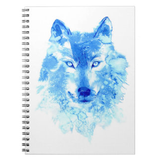 Watercolor Winter Wolf Notebook
