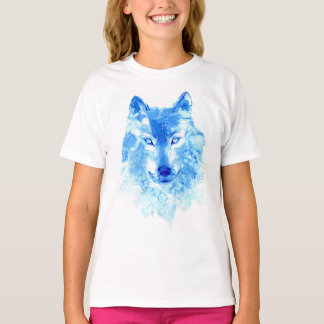Watercolor Winter Wolf T-Shirt