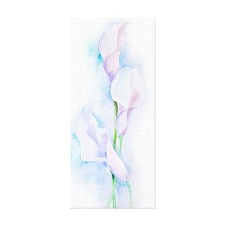 watercolor with 3 callas canvas print