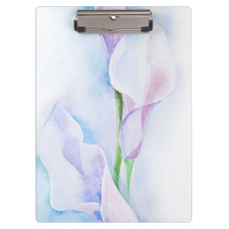 watercolor with 3 callas clipboard