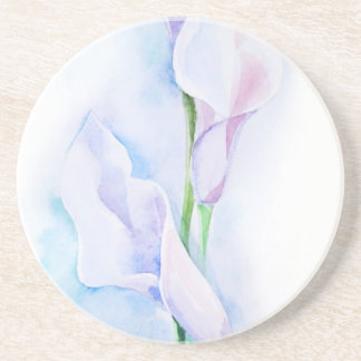 watercolor with 3 callas coaster