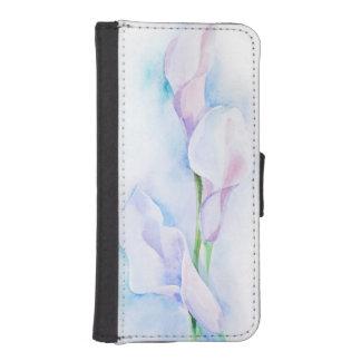 watercolor with 3 callas iPhone SE/5/5s wallet case