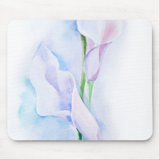 watercolor with 3 callas mouse mat