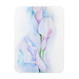 watercolor with 3 callas rectangular photo magnet