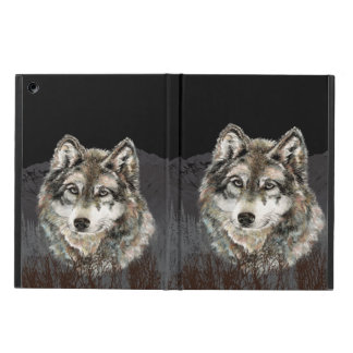Watercolor Wolf  Animal Nature Wilderness iPad Air Case