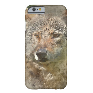 Watercolor Wolf Barely There iPhone 6 Case