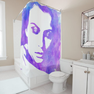Watercolor Woman Shower Curtain