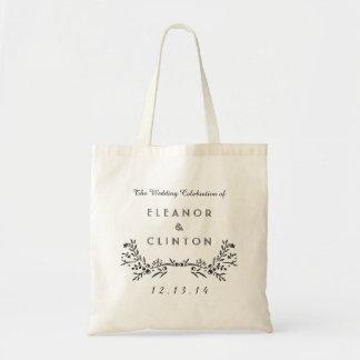 Watercolor Woodland Wedding Weekend Tote Bag