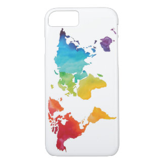 Watercolor World Map - Phone Case