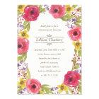 Watercolor Wreath   Floral Retirement Party Card