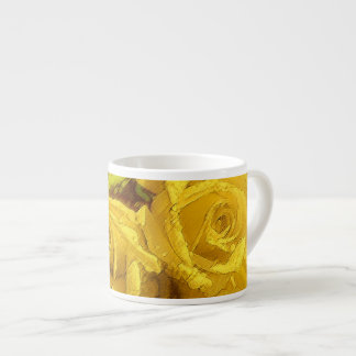 Watercolor Yellow Roses - Espresso Cup