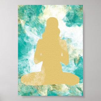 Watercolor Yoga Mandala | Poster