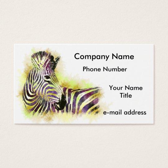 Watercolor Zeba Business Card