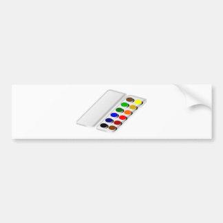 watercolors bumper sticker