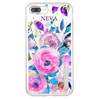 Watercolors Colorful Flowers Incipio DualPro Shine iPhone 8 Plus/7 Plus Case