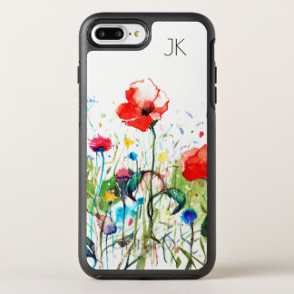 Watercolors Red Poppies & Colorful Flowers OtterBox Symmetry iPhone 8 Plus/7 Plus Case