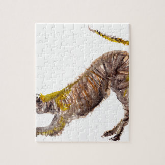 Watercolour abstract painting of lurcher dog jigsaw puzzle