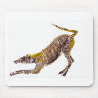 Watercolour abstract painting of lurcher dog mouse mat