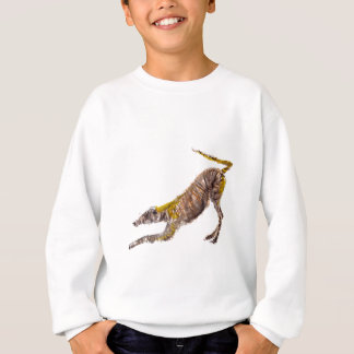 Watercolour abstract painting of lurcher dog sweatshirt