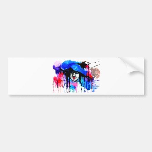 Watercolour Art Bumper Stickers
