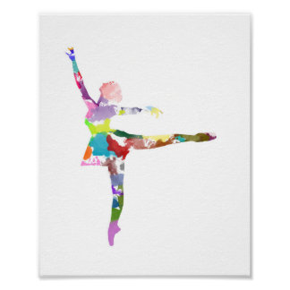 Watercolour Ballerina Poster
