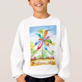 Watercolour, balloon flower sweatshirt