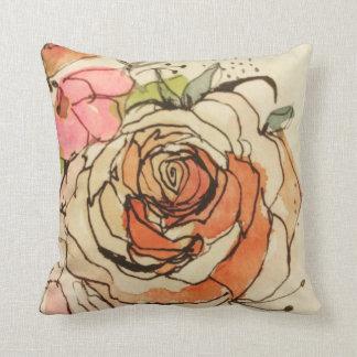 Watercolour bloom 1 & 3 cushion