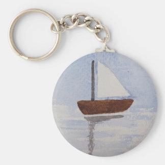 Watercolour Boat Key Ring