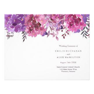 Watercolour Botanicals Wedding Programs 21.5 Cm X 28 Cm Flyer