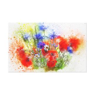 Watercolour Bouquet Canvas Print