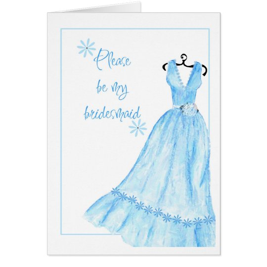 Watercolour bridesmaid card
